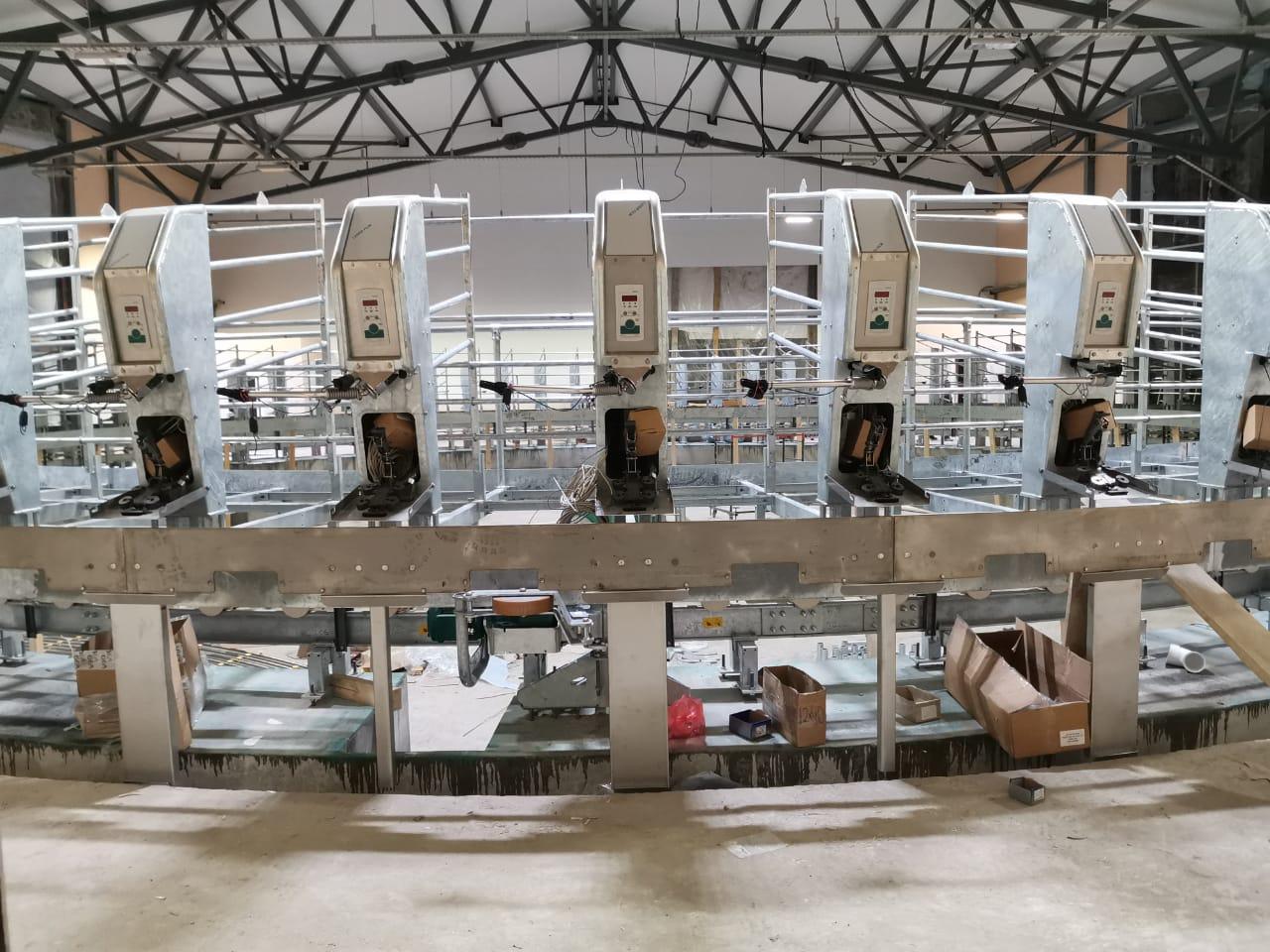 Монтаж доильного зала карусельного типа AutoRotor PerFormer Plus  72 места в с. Подвязье Рязанского района